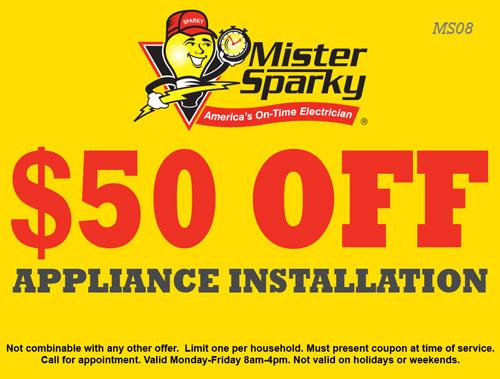 $50 Off Appliance Installation