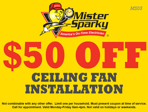$50 Off Ceiling Fan Installation