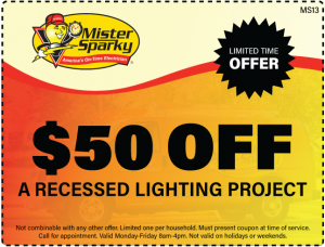 $50 Off A Recessed Lighting Project