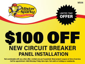 $100 Off New Circuit Breaker Panel Installation