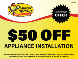 $50 Off Appliance Installation