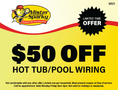 $50 Off Hot Tub and Pool Wiring