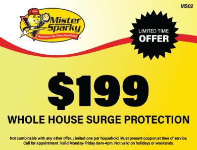 $199 Whole House Surge Protection